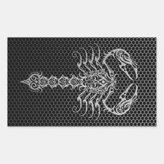 Steel Mesh Scorpion Sticker