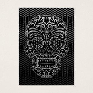 Steel Mesh Sugar Skull Business Card