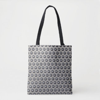 Steel Metal Pattern Tote Bag