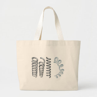 Steel Metal Spring Coil Design Elements Large Tote Bag