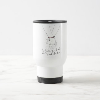 """Steel mug with cover """"My hands, you hands…"""