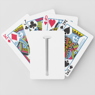 Steel nail bicycle playing cards