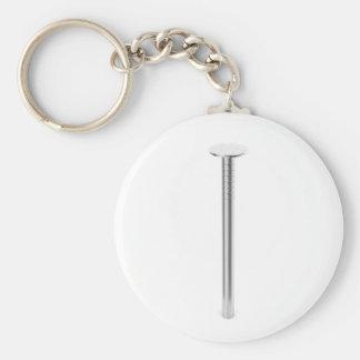 Steel nail keychain