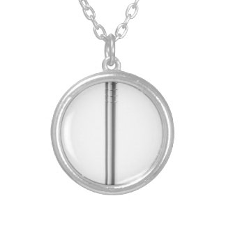 Steel nail silver plated necklace