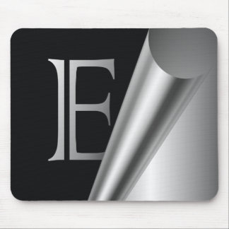 "Steel Peel Monogram ""E"" Mouse Pad"