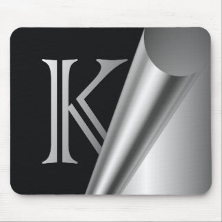 "Steel Peel Monogram ""K"" Mouse Pad"