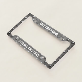 Steel Plate Pattern With Round Bumps License Plate Frame