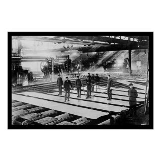 Steel Plates in Mill 1914 Poster