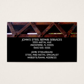 Steel Repair Services Business Card