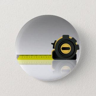 steel ruler 2 inch round button