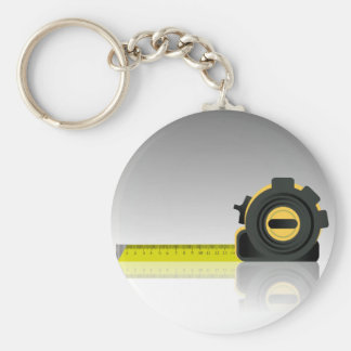steel ruler keychain