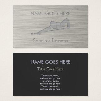 """Steel"" Snooker Business Cards"