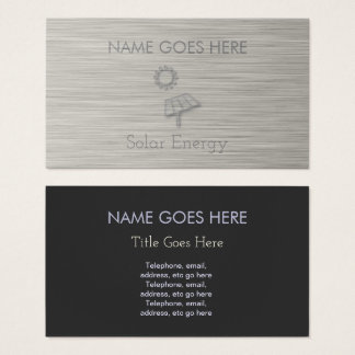"""Steel"" Solar Energy Business Cards"