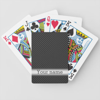 Steel striped carbon fibre bicycle playing cards