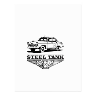 steel tank cars postcard