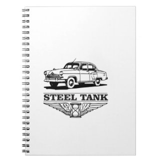 steel tank cars spiral note books