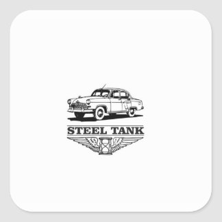 steel tank cars square sticker