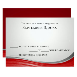 Steel Wave Red Response Card