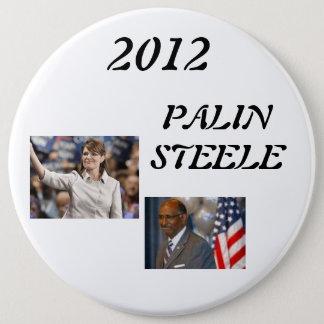 steele 1, palin 2012, 2012, PALINSTEELE 6 Inch Round Button