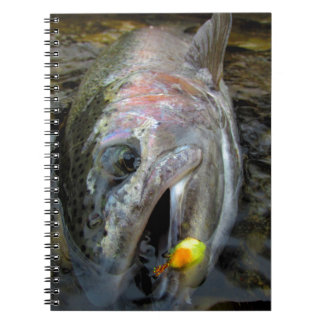 Steelhead Rainbow Trout Fly Fishing Spiral Notebook