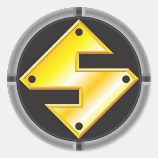 SteelMan Logo Classic Round Sticker