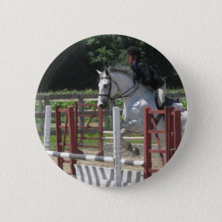 Steely Grey Pony Button