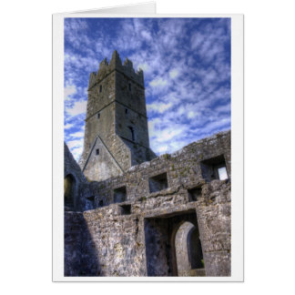 Steeple Of Ross Errilly Friary Card