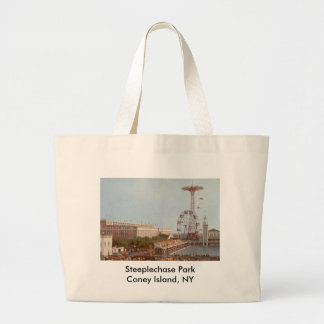Steeplechase Amusement Park, Coney Island NY Large Tote Bag