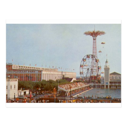 Steeplechase Amusement Park, Coney Island NY Postcard