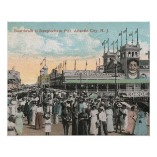 Steeplechase Pier, Atlantic City 1915 Vintage Poster