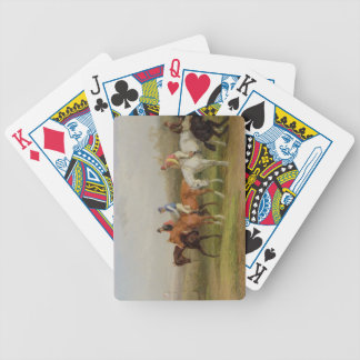 Steeplechasing: At the Start (oil on canvas) Bicycle Playing Cards