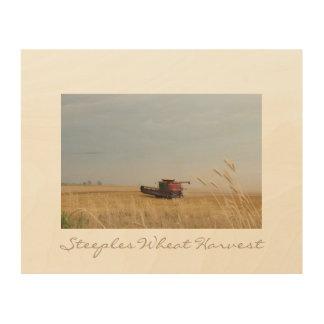 Steeples Wheat Harvest Wood Wall Art