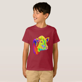Steer Clear with Colorful Cow T-Shirt