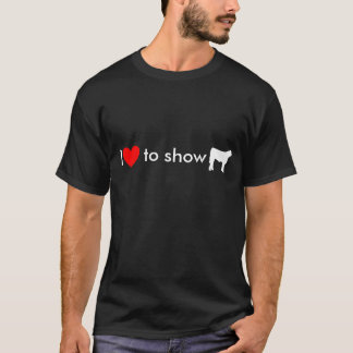 steer cow white, Heart, I, to show T-Shirt
