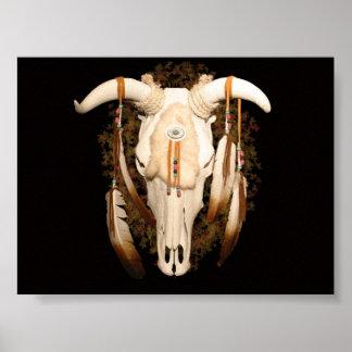 Steer Skull Poster