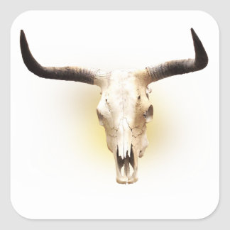 steer skull sticker