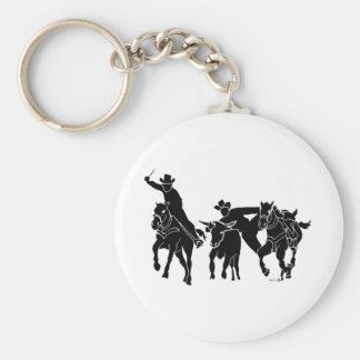 Steer Wrestling 1 Keychain
