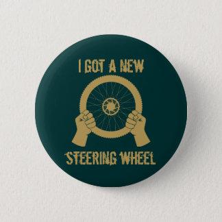Steering wheel 2 inch round button
