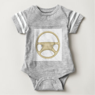 Steering wheel - front view baby bodysuit