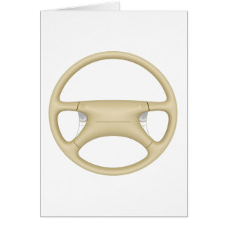 Steering wheel - front view card