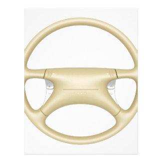 Steering wheel - front view letterhead