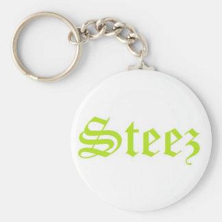 Steez Basic Round Button Keychain