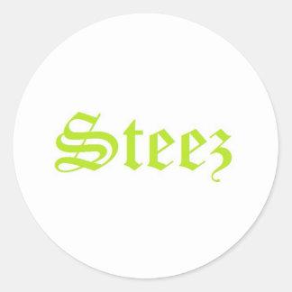 Steez Round Sticker