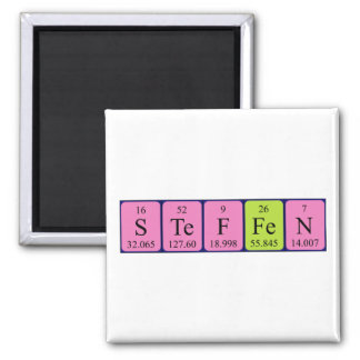 Steffen periodic table name magnet