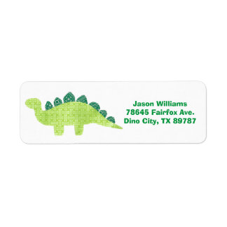 Stegosaurus Address Label