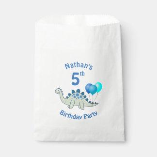Stegosaurus Birthday Favour Bag