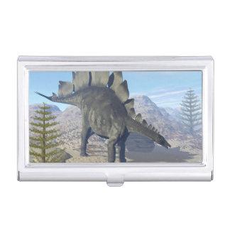 Stegosaurus dinosaur - 3D render Business Card Holder