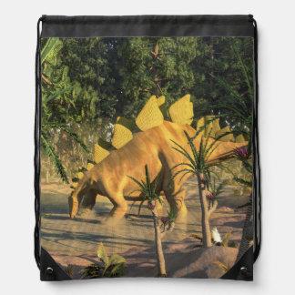 Stegosaurus dinosaur - 3D render Drawstring Bag