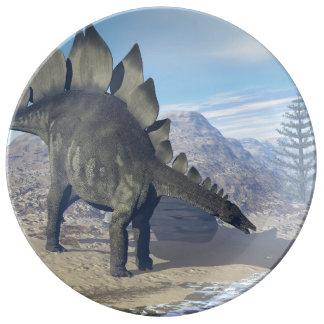 Stegosaurus dinosaur - 3D render Plate