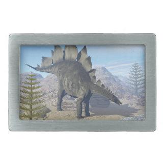 Stegosaurus dinosaur - 3D render Rectangular Belt Buckle